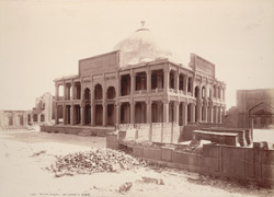 Tatta, Karachi District, Sindh. Isa Khan's Tomb, general view from inside, south-west corner